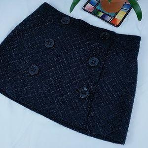 Express Design Studio Eyelash Tweed Mini Skirt